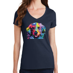 Colorful Golden 2 - Ladies V-Neck T Thumbnail