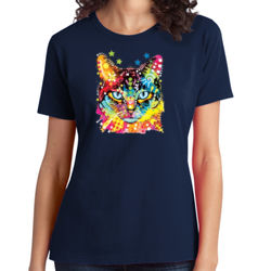 Rainbow Cat - Ladies Soft Cotton T Thumbnail