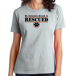 Rescued - Ladies Soft Cotton T Thumbnail