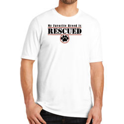 Rescued - Adult Soft Tri-Blend T Thumbnail