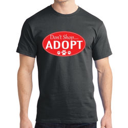 Adopt!  - Adult Soft Cotton T Thumbnail