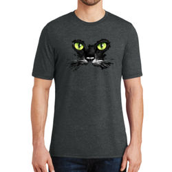 Cat Face - Adult Soft Tri-Blend T Thumbnail