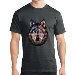 American Wolf - Adult Soft Cotton T Thumbnail