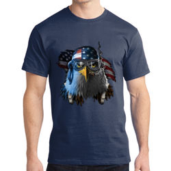 Patriotic Eagle - Adult Soft Cotton T Thumbnail