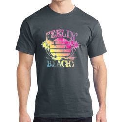 Feelin' Beachy - Adult Soft Cotton T Thumbnail