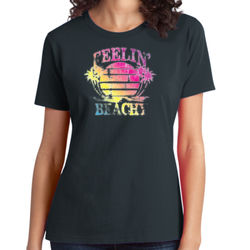 Feelin' Beachy - Ladies Soft Cotton T Thumbnail