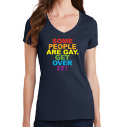 Some People are Gay - Ladies V-Neck T Thumbnail