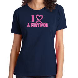 I Heart a Survivor - Ladies Soft Cotton T Thumbnail