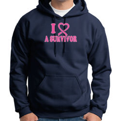 I Heart a Survivor - Adult 50/50 Blend Hoodie Thumbnail