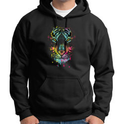 Painted Tiger - Adult 50/50 Blend Hoodie Thumbnail