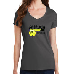 Attitude - Ladies V-Neck T Thumbnail