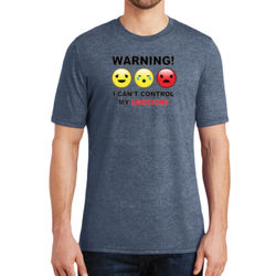 Warning- Emotions - Adult Soft Tri-Blend T Thumbnail