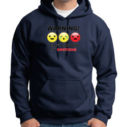 Warning- Emotions - Adult 50/50 Blend Hoodie Thumbnail
