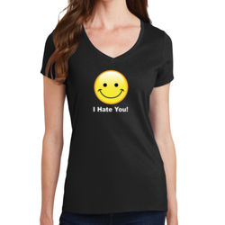 I Hate You - Ladies V-Neck T Thumbnail