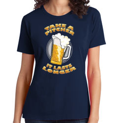 Take a Pitcher - Ladies Soft Cotton T Thumbnail