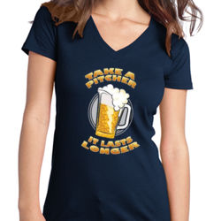 Take a Pitcher - Juniors V-Neck T Thumbnail