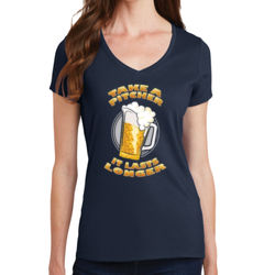 Take a Pitcher - Ladies V-Neck T Thumbnail