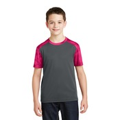 Youth CamoHex Colorblock T