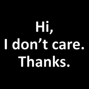 I Don t Care