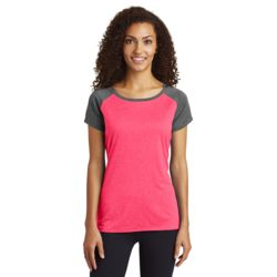 Ladies Heather On Heather Contender Scoop Neck T-Shirt Thumbnail