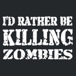 Rather Kill Zombies Hoodie Design