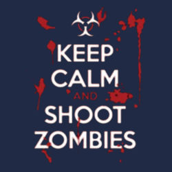 Keep Calm and Shoot Zombies Ladies T Design