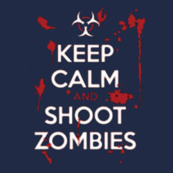 Keep Calm and Shoot Zombies Hoodie Design