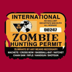 Zombie Hunting Permit T-Shirt Design