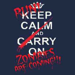 Zombies are Coming! Ladies T Design