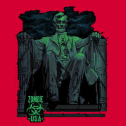 Zombie Lincoln T-Shirt Design