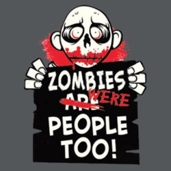 Zombies Were People Juniors V Design