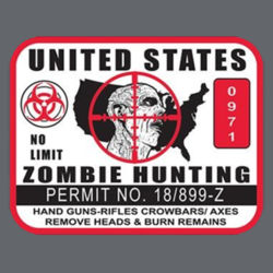 Zombie Hunting US T-Shirt Design