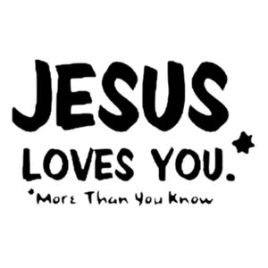 Jesus Loves You T-Shirt Design