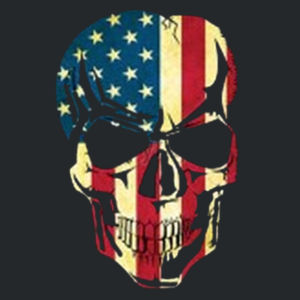 American Skull Ladies T Design