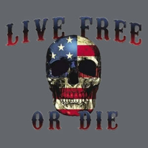 Live Free or Die Ladies T Design