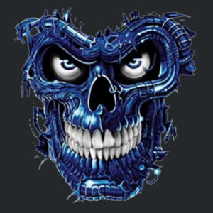 Blue Skull Ladies T Design