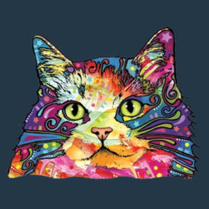Colorful Cat - Juniors V-Neck T Design
