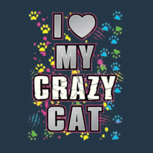 My Crazy Cat - Juniors V-Neck T Design
