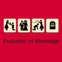 Marital Evolution Ladies T Design