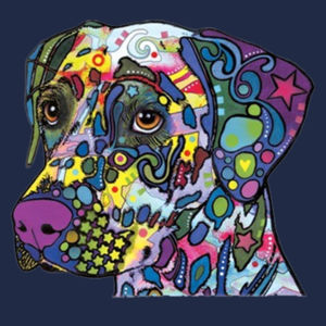 Colorful Dalmatian  - Adult Dri Blend Hooded Design