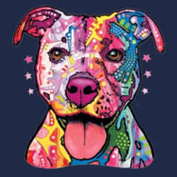 Colorful Pit Bull T-Shirt - Adult Dri Blend Hooded Design