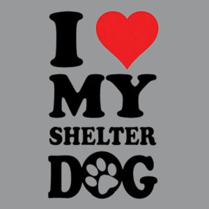Love Shelter Dogs - Adult Dri Blend Hooded Design