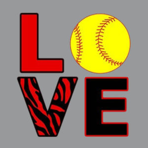 Love Softball Ladies T Design
