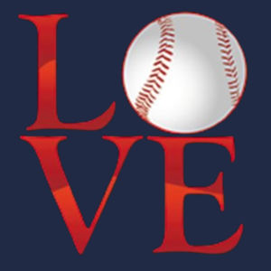 Love Baseball T-Shirt Design