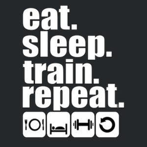 Train & Repeat T-Shirt Design