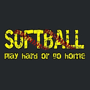 Play Hard Softball Ladies T Design