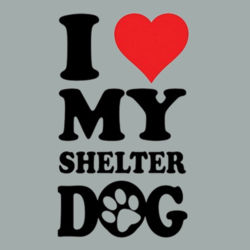 Love Shelter Dogs - Adult Soft Cotton T Design