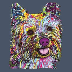Colorful Yorkie - Adult Soft Tri-Blend T Design