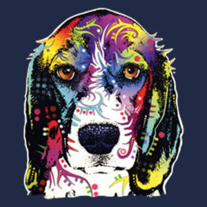 Colorful Beagle - Adult 50/50 Blend Hoodie Design