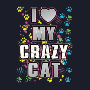 My Crazy Cat - Ladies V-Neck T Design